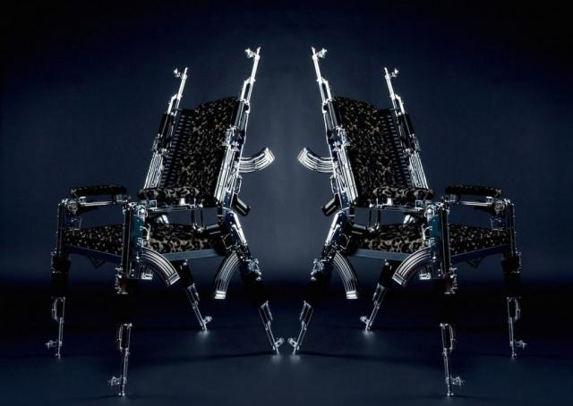 Stuhl aus je 6 Stk. AK47 Design by Rainer Weber