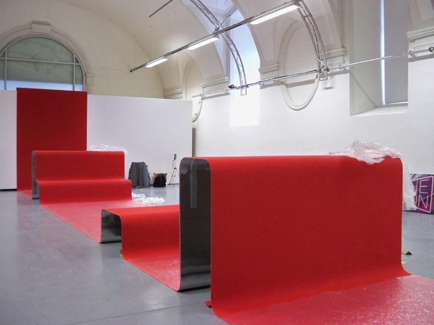 """""""Wellen"""" f. Designforum, Gestaltung Thomas Hamann"""