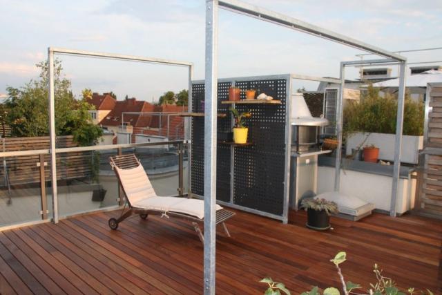 Sonnensegel und Aircondition-Verkleidung